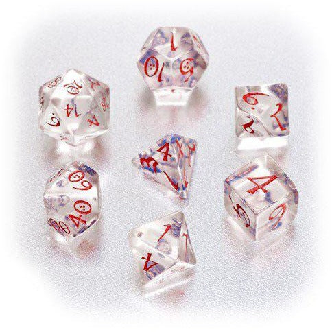 Classic RPG Dice Set Transparent Blue/Red (7)