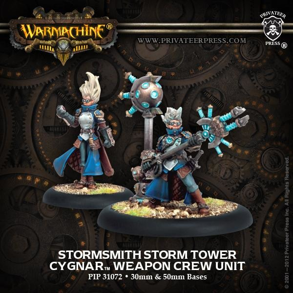 Warmachine: Cygnar Stormsmith Storm Tower Weapon Crew Unit