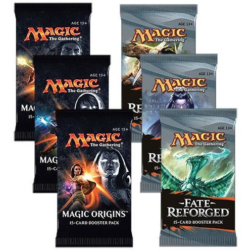 Magic the Gathering Bundle: 3 X Fate Reforged and 3 X Magic Origins Booster Packs