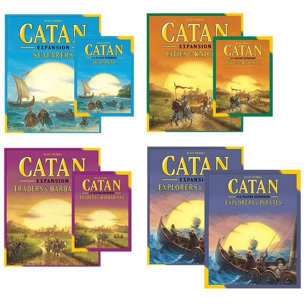 Catan 5th Edition Bundle:  Seafarers / Cities / Traders / Explorers Plus 5-6 Player Expansions