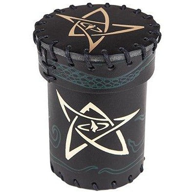 Call of Cthulhu Black/Green with Gold Leather Dice Cup