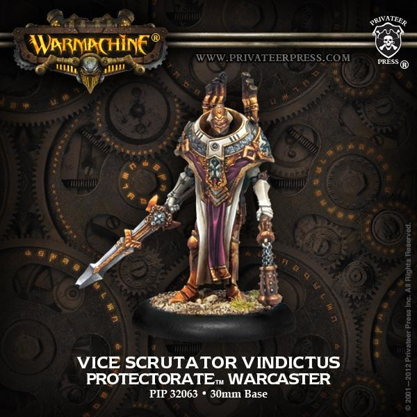 Warmachine: The Protectorate of Menoth Vice Scrutator Vindictus Warcaster