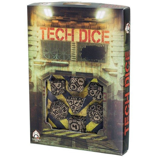 Tech Dice Set Beige/Black (7)