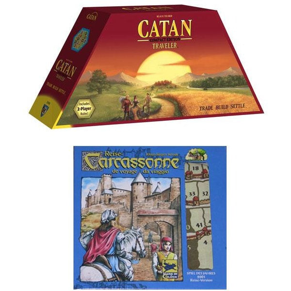 Travel Bundle: Catan and Carcassonne Travel Edition