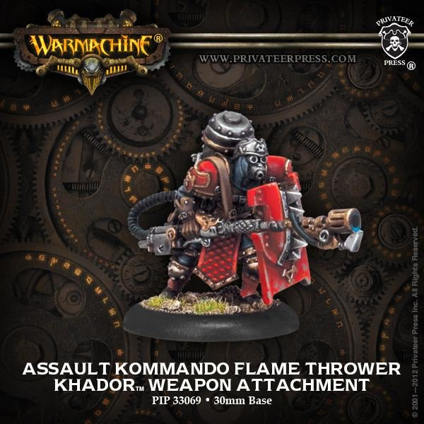 Warmachine: Khador Assault Kommando Flame Thrower Weapon Attachment