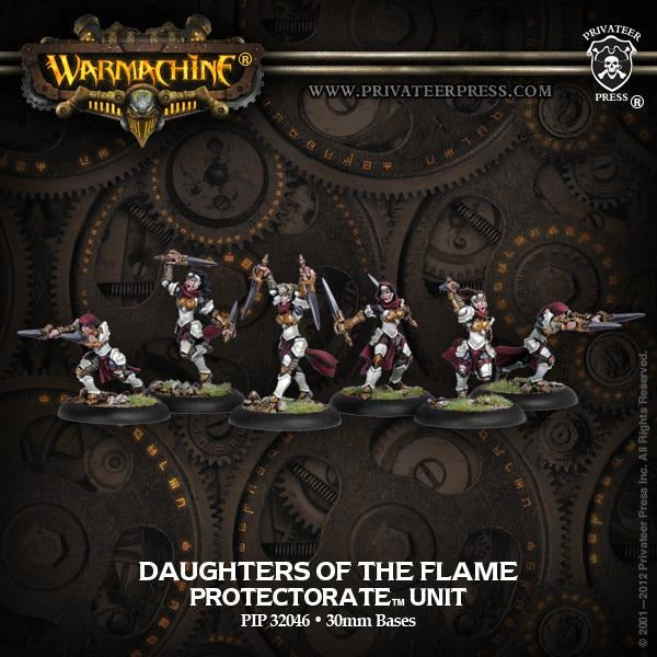 Warmachine: The Protectorate of Menoth Daughters of the Flame Flameguard Unit