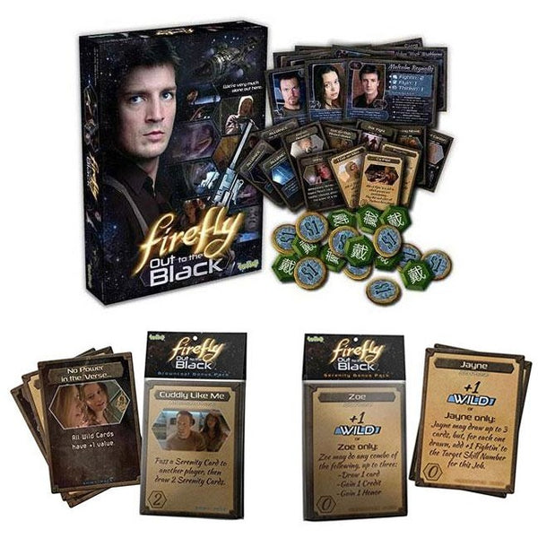 Firefly Bundle: Out to the Black Card Game and Browncoat / Serenity Card Pack Expansions