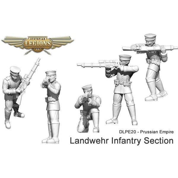 Dystopian Legions: Prussian Empire Landwehr Infantry Section