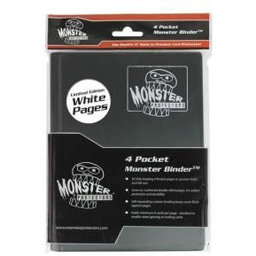 Binder: 4pkt Monster Matte Bk - Wh Pgs