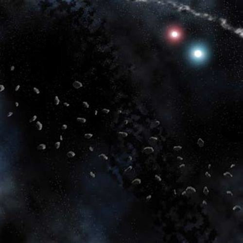 Battlefield in a Box: Battlemat Asteroid Belt 36 Inch x 36 Inch