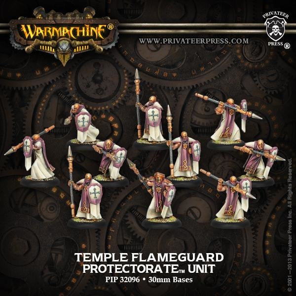 Warmachine: The Protectorate of Menoth Temple Flameguard Unit (Plastic)