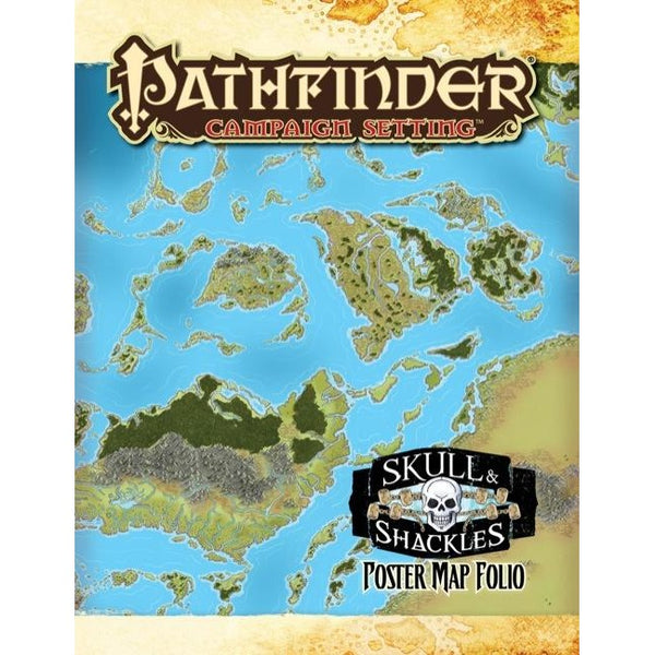 Pathfinder Campaign Setting Map Folio: Skull and Shackles Poster