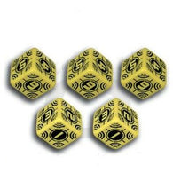 Battle Dice Set Sniper D6 Yellow/Black (5)