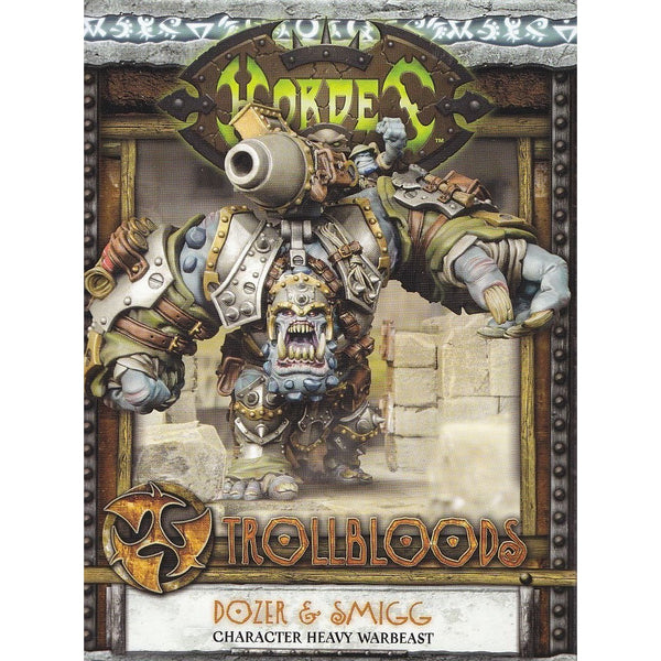 Hordes: Trollblood Dozer & Smigg Heavy Warbeast (White Metal and Resin)