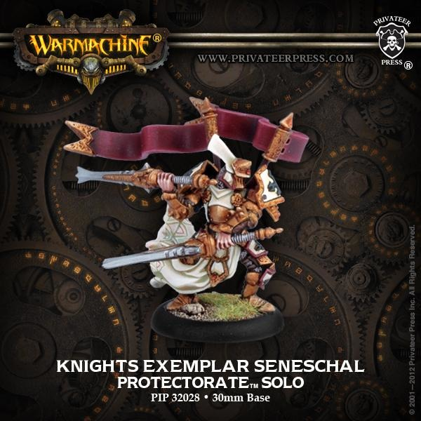 Warmachine: The Protectorate of Menoth Knights Exemplar Seneschal Solo
