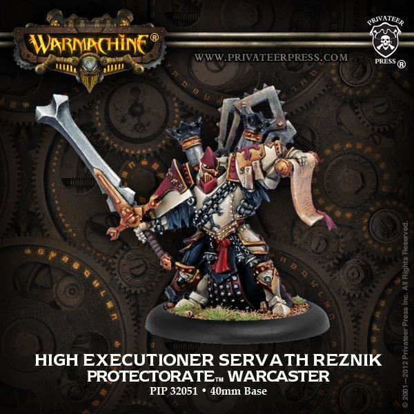 Warmachine: The Protectorate of Menoth High Executioner Servath ReznikWarcaster