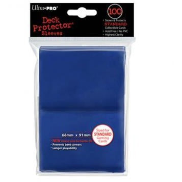 Blue Solid 100 Count Deck Protector Pack
