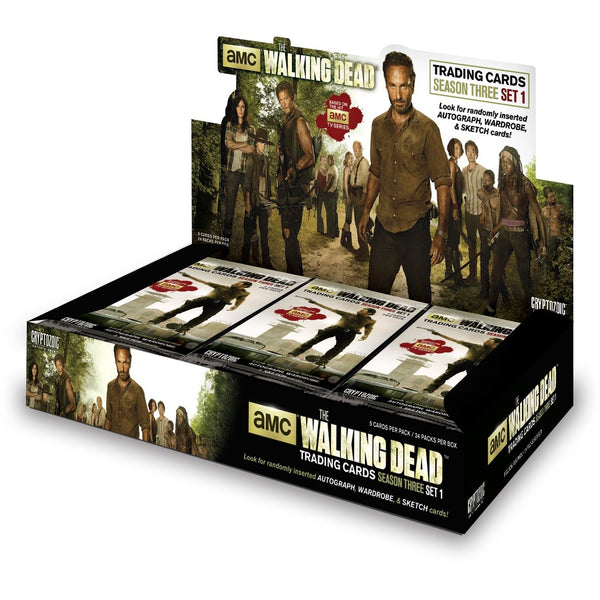 The Walking Dead: TV Season 3 Part 1 Trading Cards Display