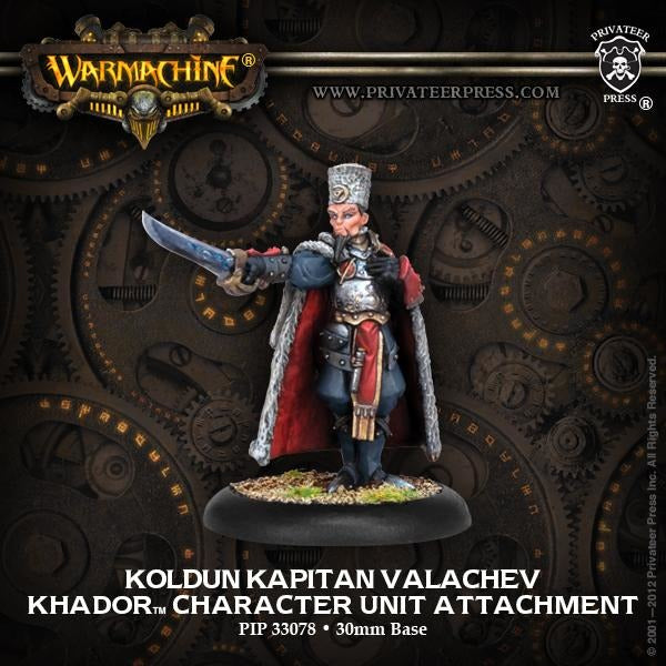 Warmachine: Khador Koldun Kapitan Valachev Character Unit Attachment