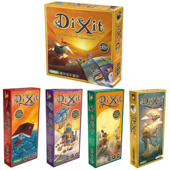 Dixit Bundle: Core Plus Quest / Odyssey / Origins / Daydreams Expansion