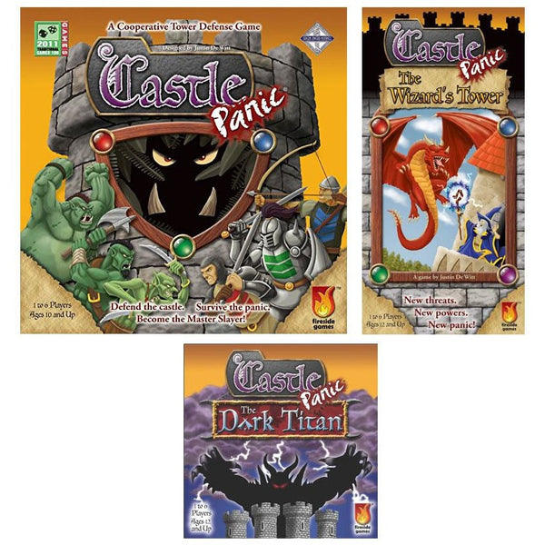 Castle Panic Bundle: Core Plus The Wizards Tower and The Dark Titan Expansion