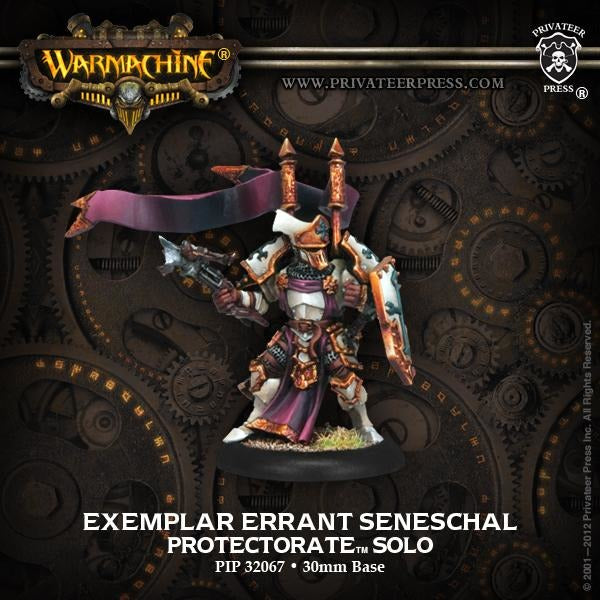 Warmachine: The Protectorate of Menoth Exemplar Errant Seneschal Solo