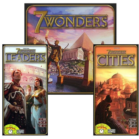7 Wonders Bundle: 7 Wonders Plus Leaders/Cities Expansion