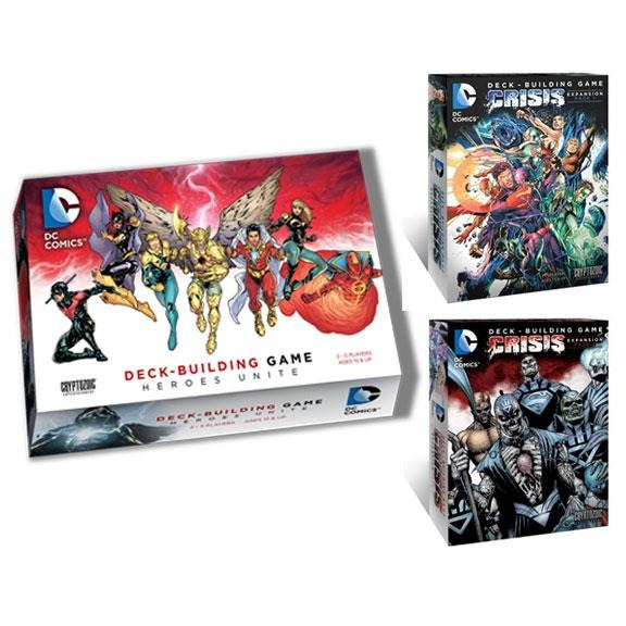 DC Comics Bundle: Heroes Unite and Crisis Pack 1 / Crisis Pack 2 Expansions