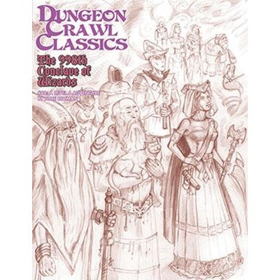 Dungeon Crawl Classics: #88 The 998th Conclave of Wizards - Sketch Cover