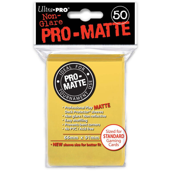 Pro-Matte Yellow Deck Protectors Display (12)