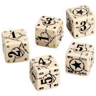 Battle Dice Set USA D6 Beige/Black (5)