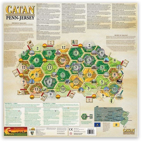 Settlers of Catan Geographies: U.S.A. - Pennsylvania - New Jersey (6)