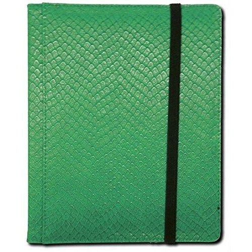Dragon Hide 4 Pocket Binder Green