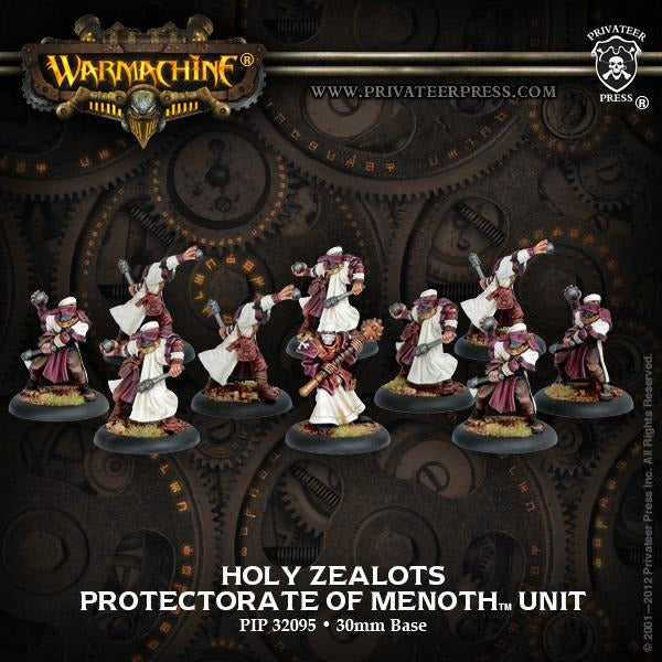 Warmachine: The Protectorate of Menoth Holy Zealots Unit