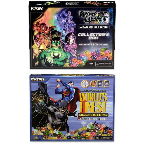 DC Dice Masters Bundle: Worlds Finest Collectors Box and War of Light Collectors Box