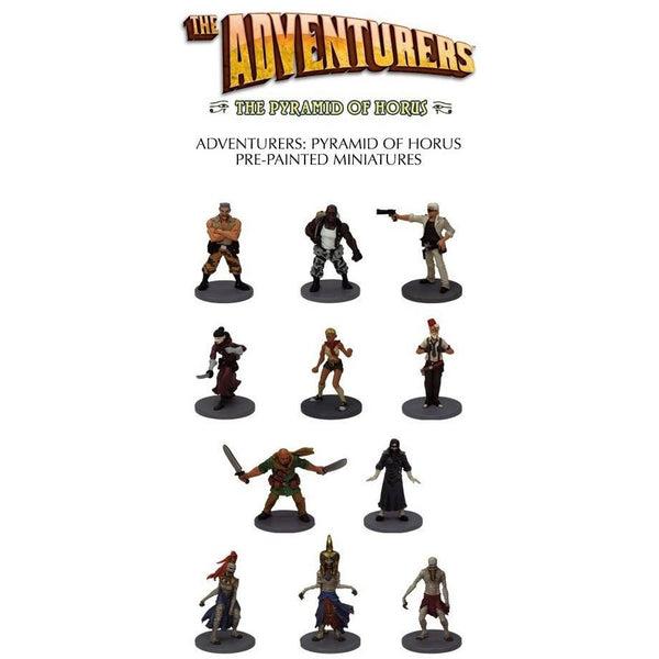 The Adventurers - The Pyramid of Horus: Pyramid Miniatures
