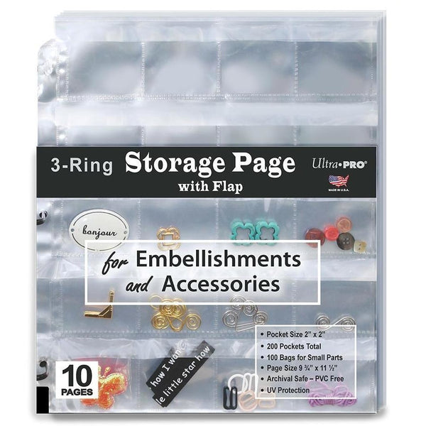 3-Ring Storage Page with Flap