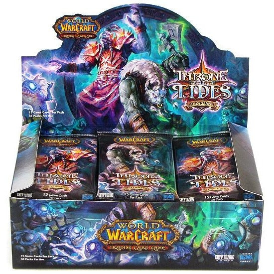 World of Warcraft CCG: Aftermath Throne of the Tides Booster Display