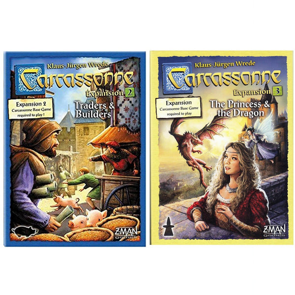 Carcassonne 2.0 Bundle: Traders and Builders / Princess and The Dragon Expansion