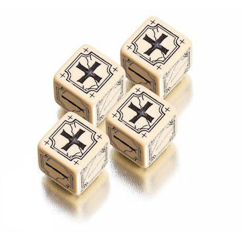 Antique Fudge Dice Set Beige/Black (4)