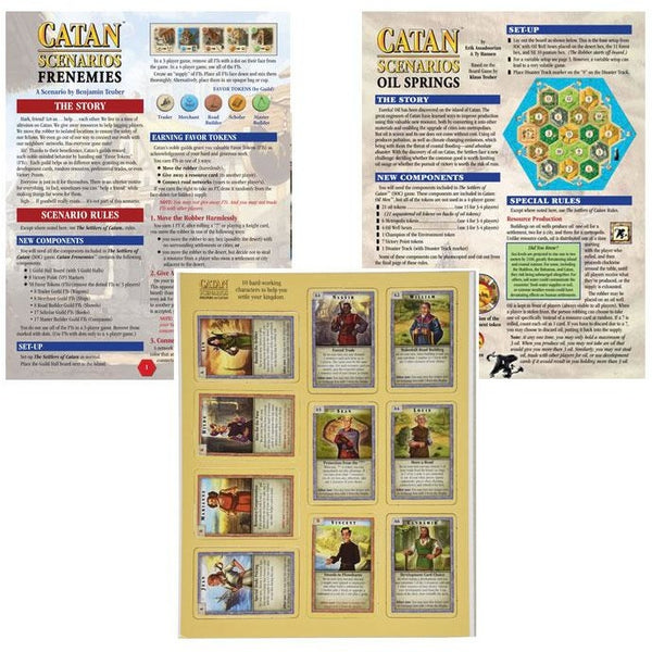 Catan Scenarios Bundle: Frenemies / Oil Springs / Helpers of Catan