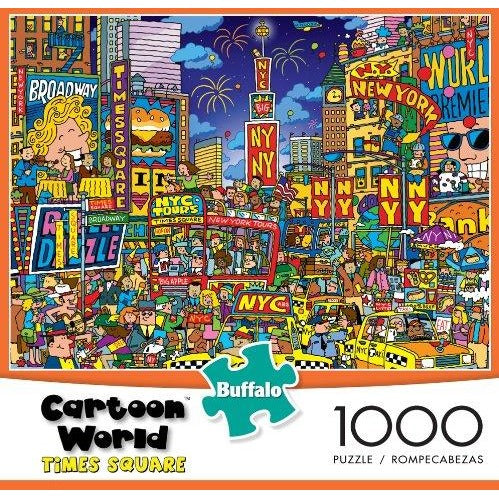 Cartoon World - Times Square Puzzle (1000 pieces)