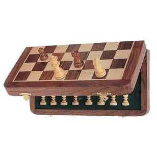 "Chess 12"" Wood Magnetic Folding"