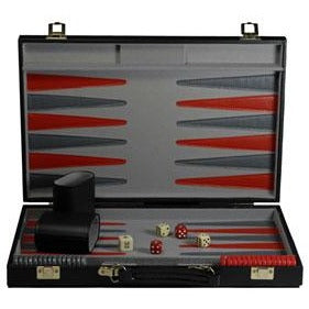 Backgammon Standard Black Case