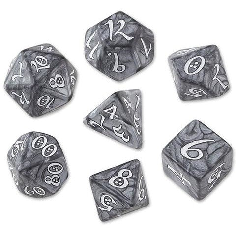 Classic RPG Dice Set Smoky/White (7)