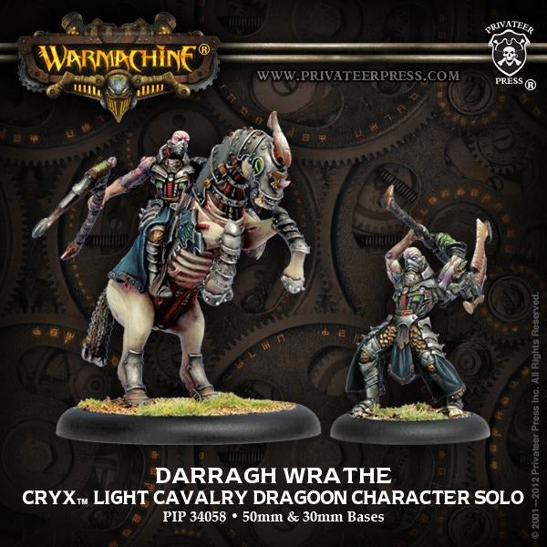 Warmachine: Cryx Darragh Wrathe Cavalry Dragoon Character Solo