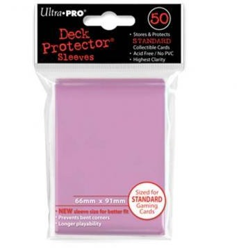 Pink Solid 50 Count Deck Protector Display (12)