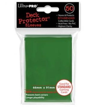 Green Solid 50 Count Deck Protector Pack (12)