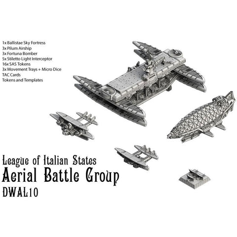 Dystopian Wars: League of Italian States Aerial Battle Group