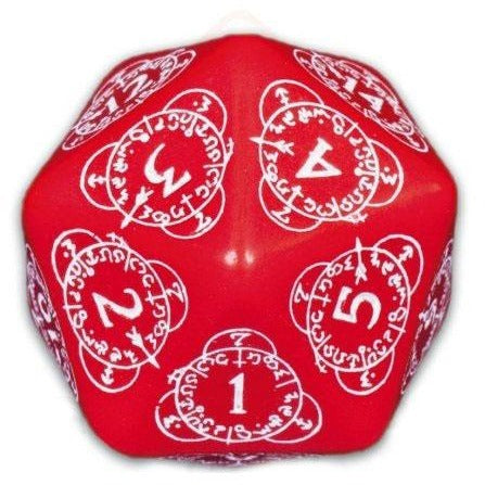 CG Level Counter D20 Red/White